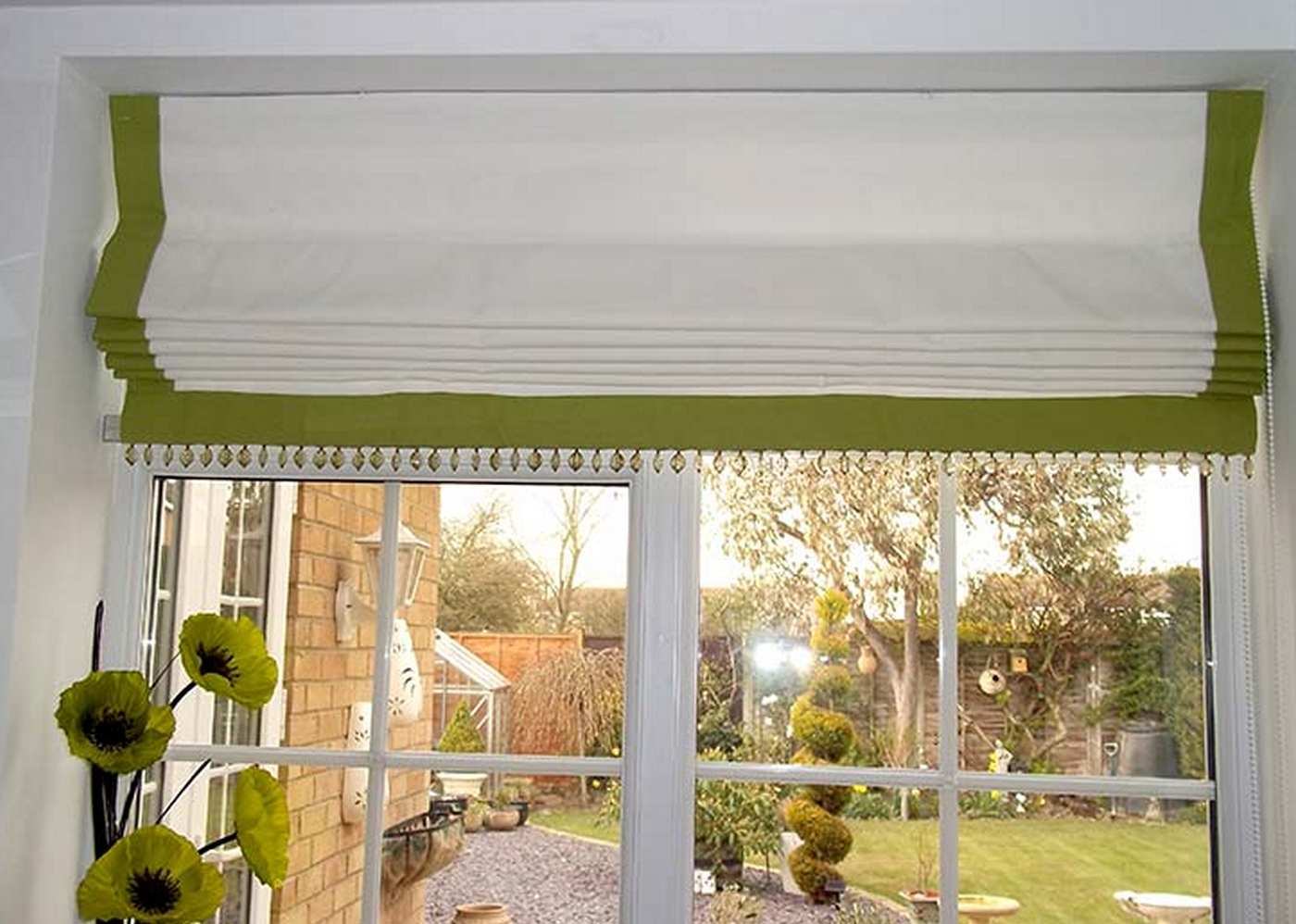 Blinds Middlesbrough Blinds Middlesbrough Conservatory Blinds With Green Roman Blinds (Image 4 of 15)