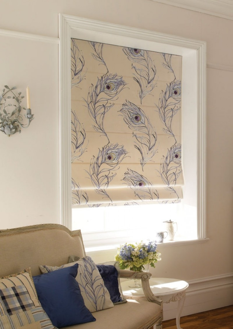 Blinds Roman Blinds Home Style Blinds And Shutters For Floral Roman Blinds (Image 8 of 15)