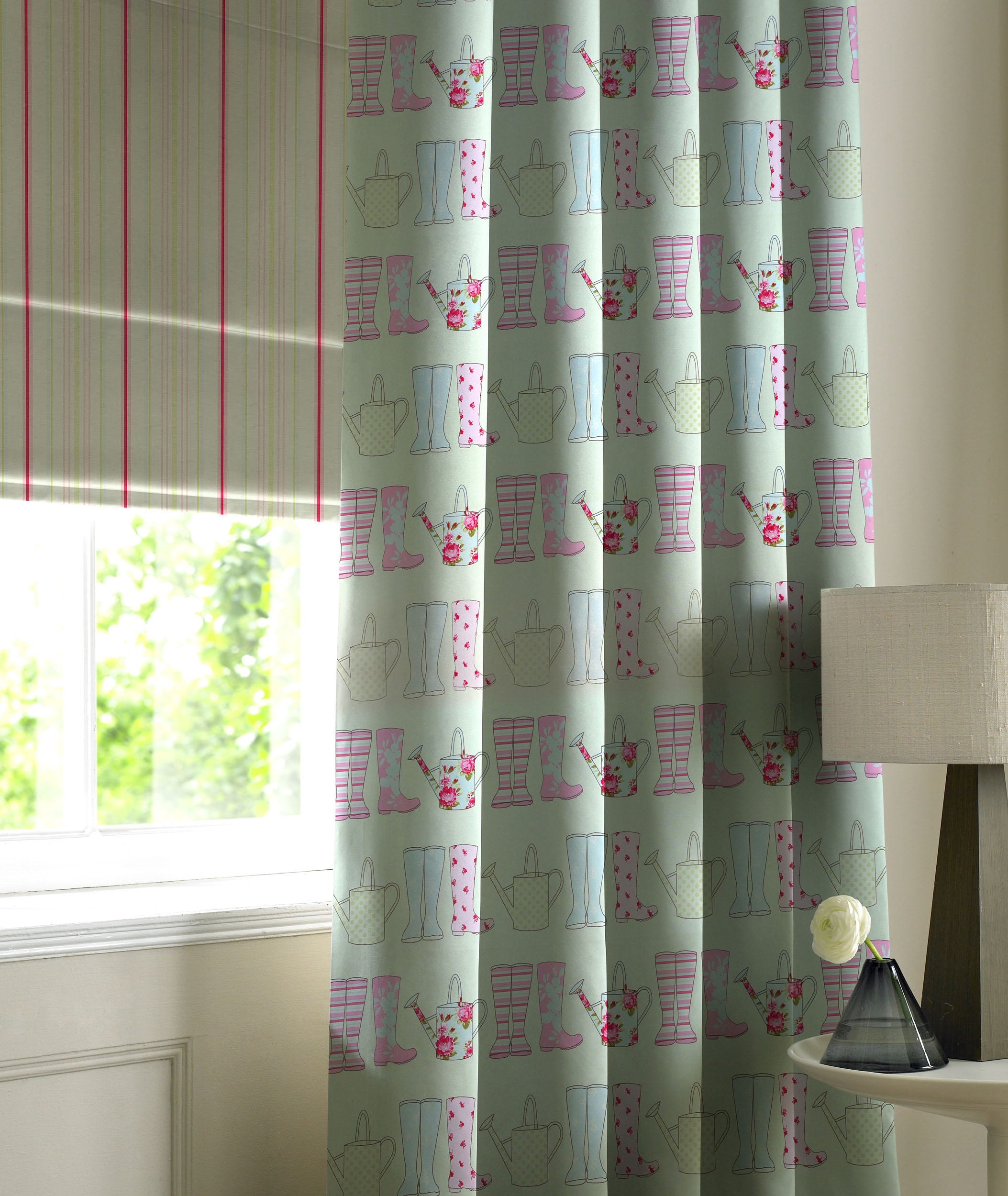 Blog Within Striped Roman Blinds (Photo 15 of 15)