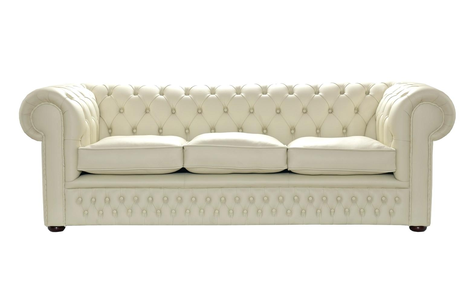 Bonded Leather Sofa Set Excellent Cream Couch Ivory Decorating Within Cream Colored Sofas (View 12 of 15)