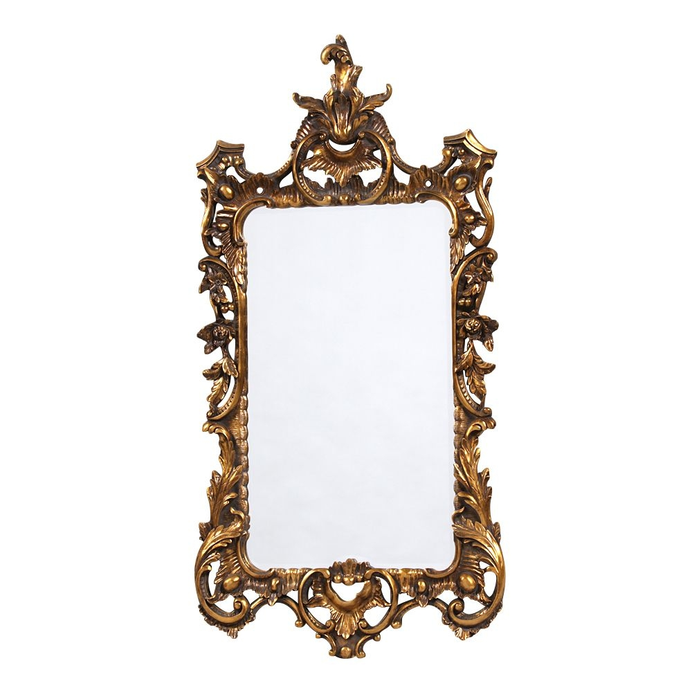 Boudoir Large French Gold Mirror Throughout French Gold Mirror (Image 5 of 15)