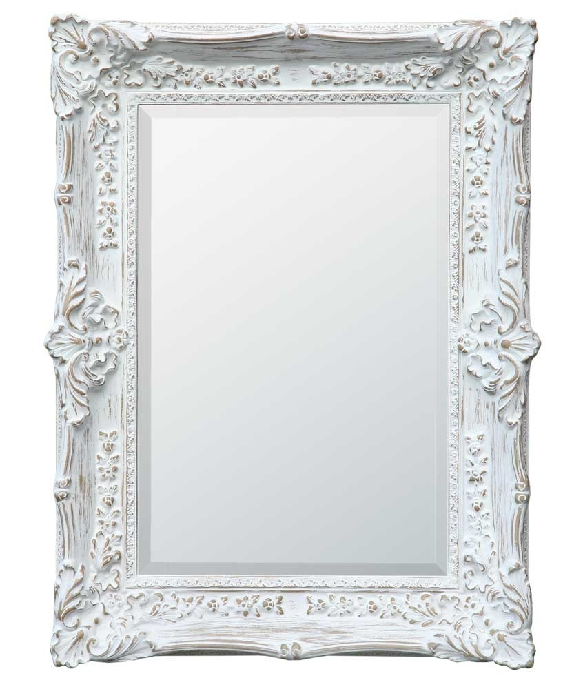 Boudoir Provence Antique White Mirror Chic Seasons With Regard To Vintage White Mirror (Image 1 of 15)