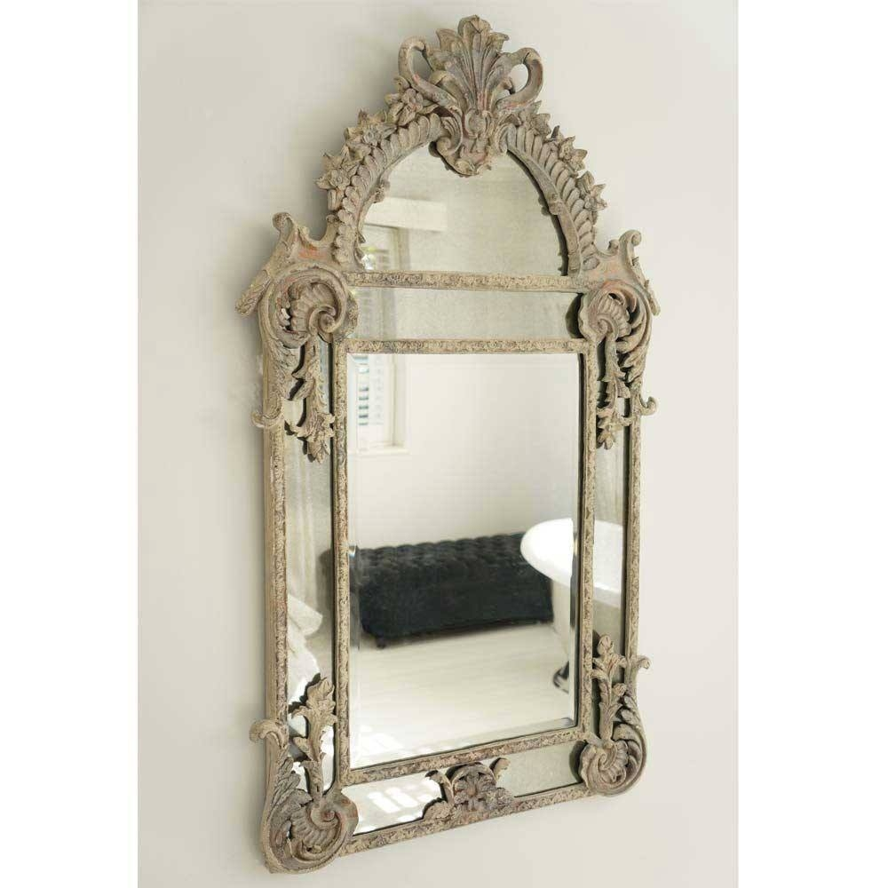 Boulevard Saint Germain French Mirror Luxury Mirror Throughout French Mirror (Image 8 of 15)