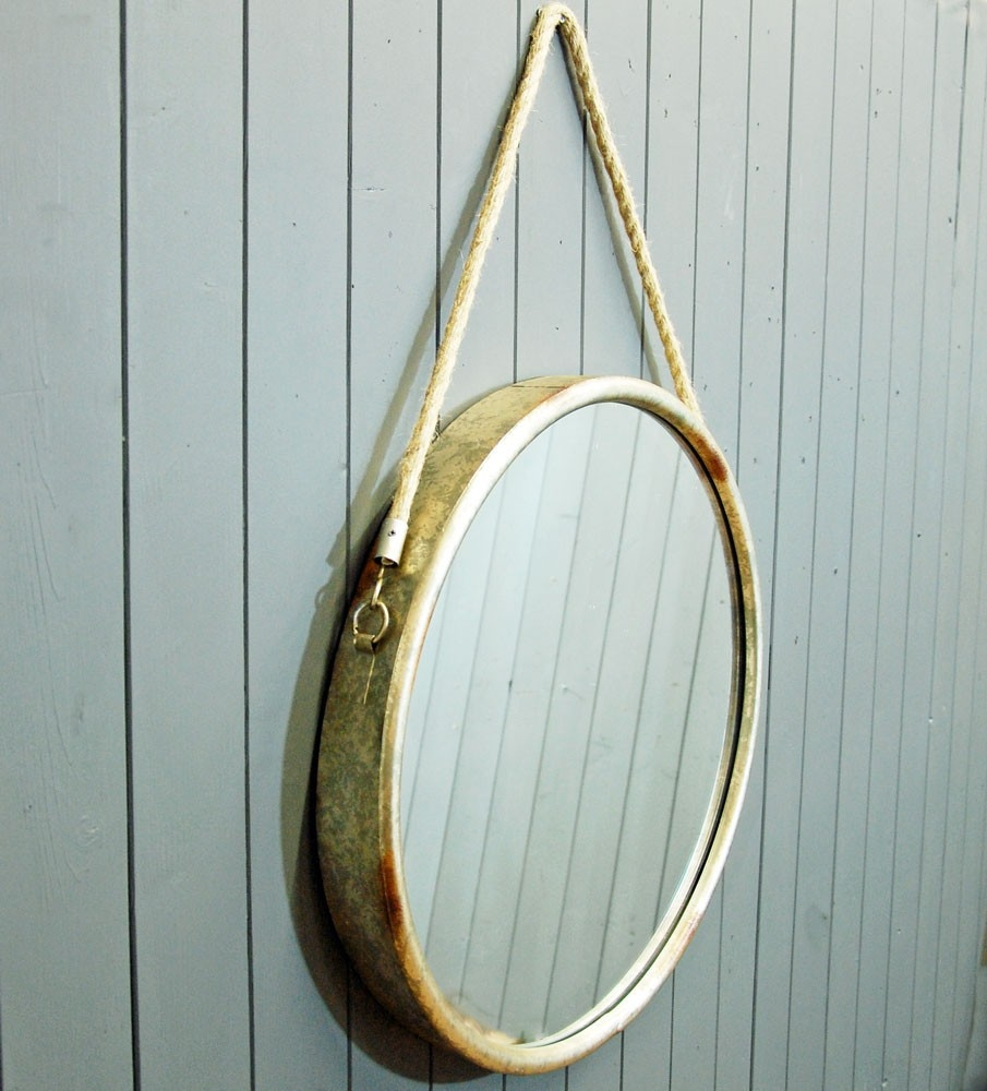 Bowley Jackson Circular Porthole Design Wall Mirror Bowley Jackson For Porthole Style Mirrors (Image 2 of 15)