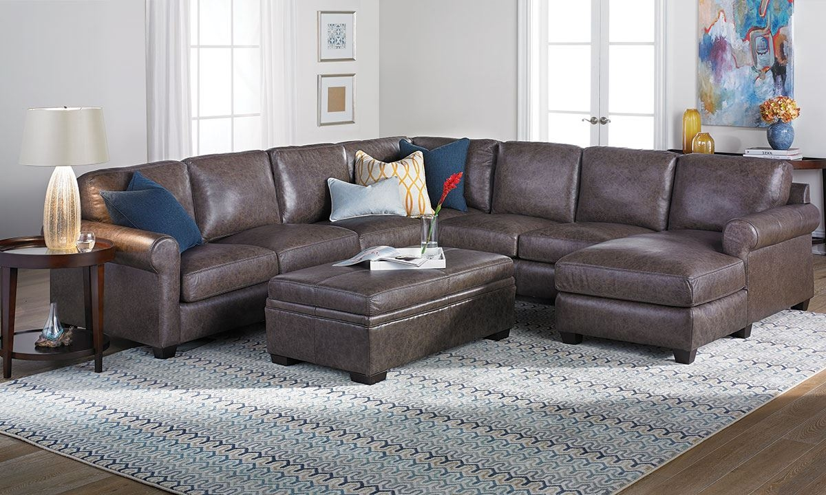 Bradley Top Grain Leather Feather Sectional Sofa The Dump With Regard To Bradley Sectional Sofa (Image 9 of 15)