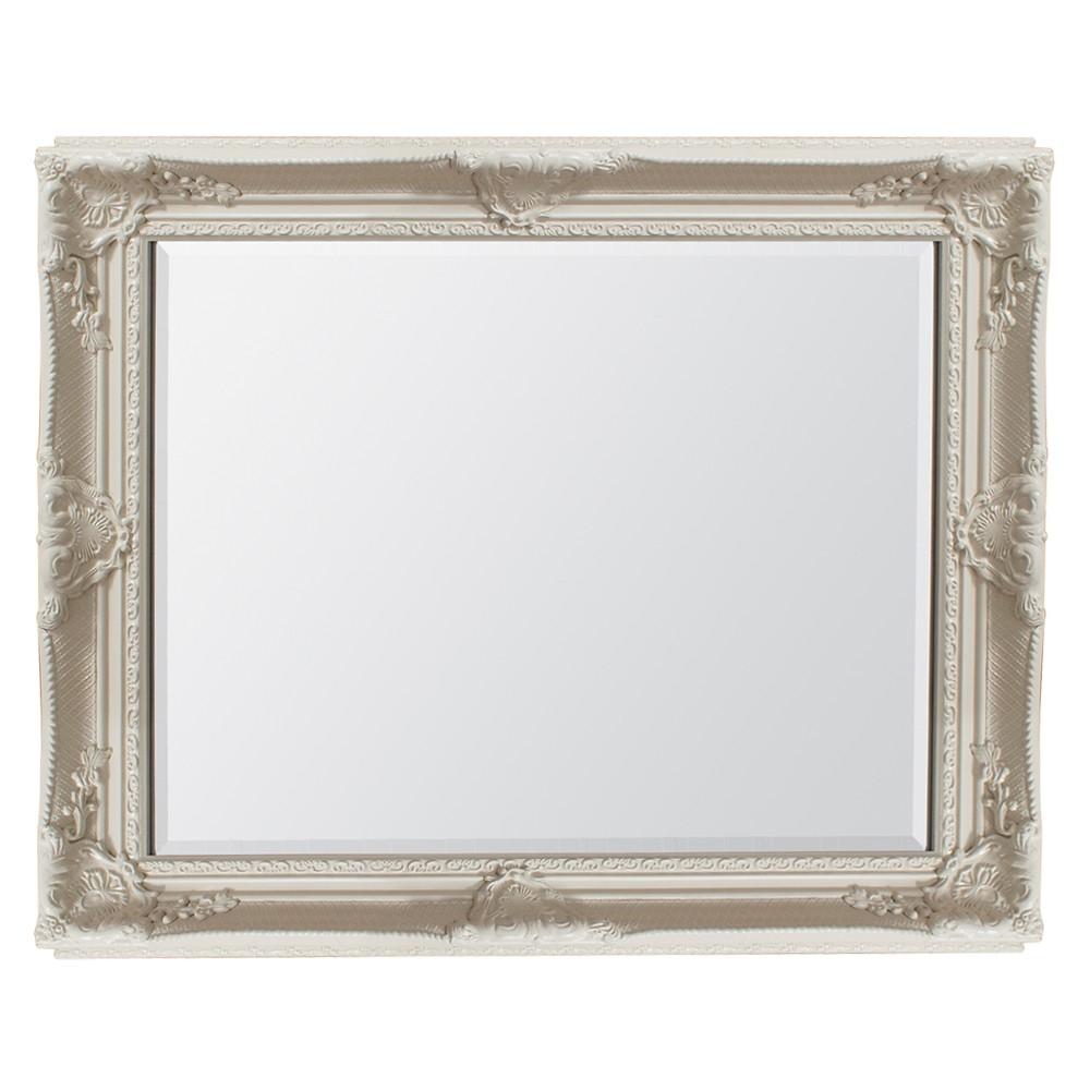 Braemar Baroque Mirror Cream Mirrors Art Pagazzi Lighting Pertaining To Cream Mirror (Image 4 of 15)