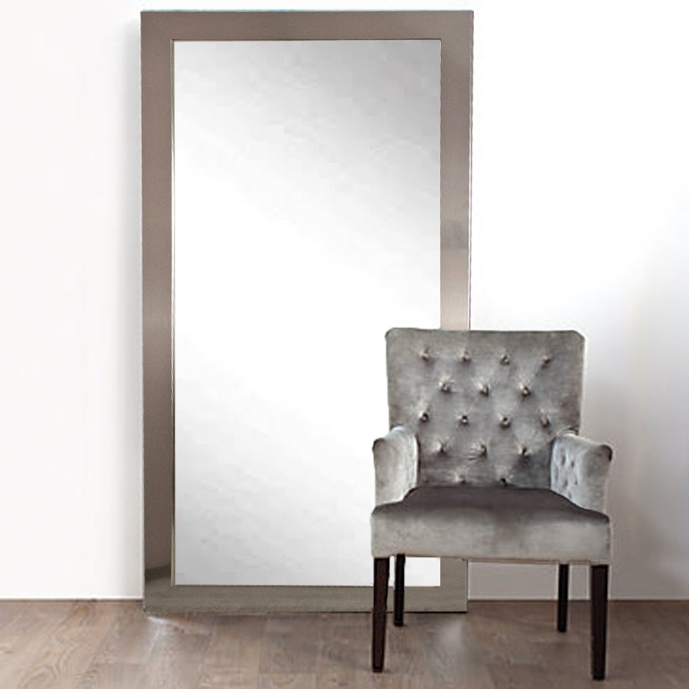 Brandtworksllc Designer Silver Floor Mirror Reviews Wayfair For Long Silver Mirror (Image 4 of 15)
