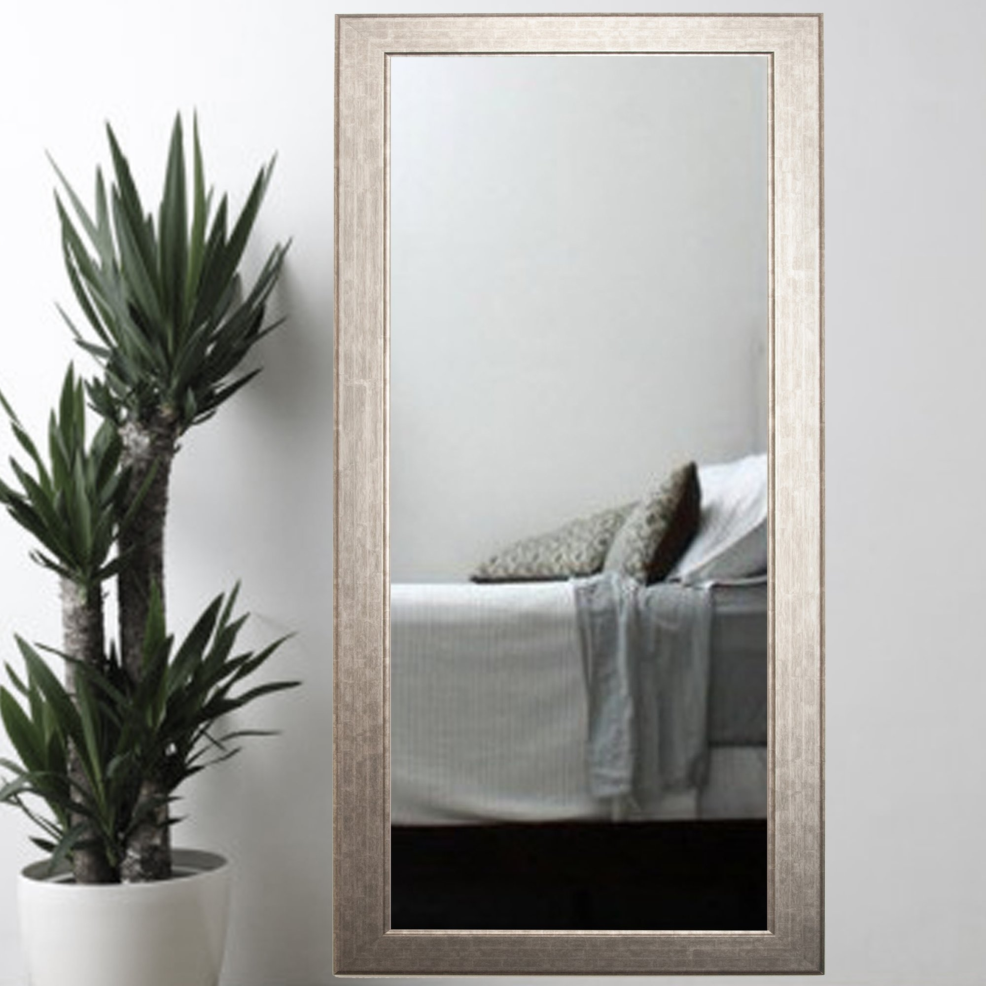 Brandtworksllc Subway Silver Elite Tall Accent Wall Mirror With Regard To Tall Silver Mirror (Image 4 of 15)