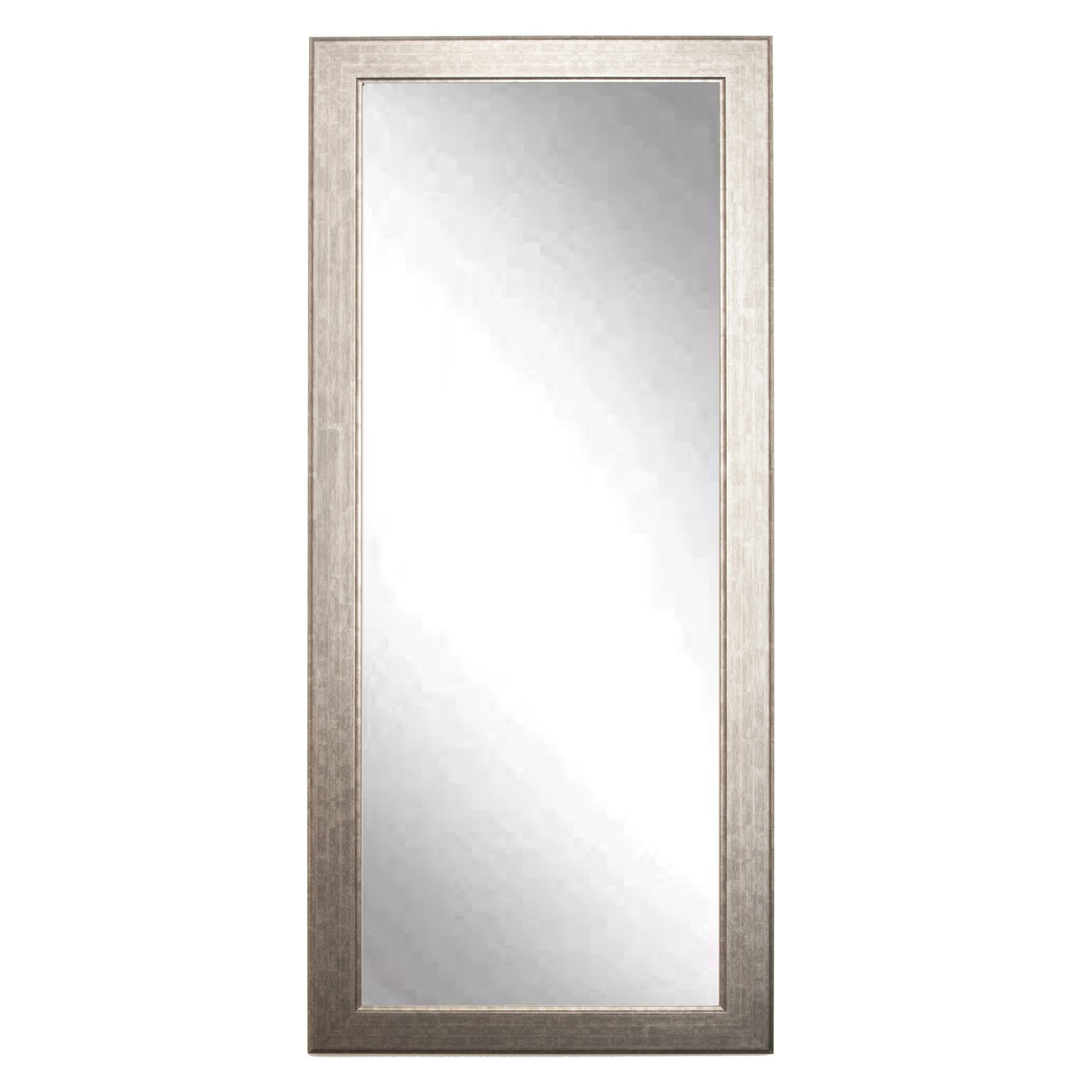 Brandtworksllc Subway Silver Elite Tall Accent Wall Mirror With Tall Silver Mirror (View 2 of 15)