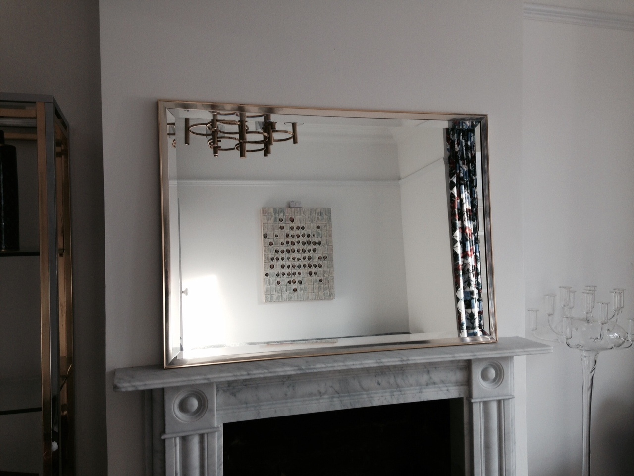 Brass And Chrome Framed Mirror Decorative Collective With Regard To Chrome Framed Mirror (Image 4 of 15)