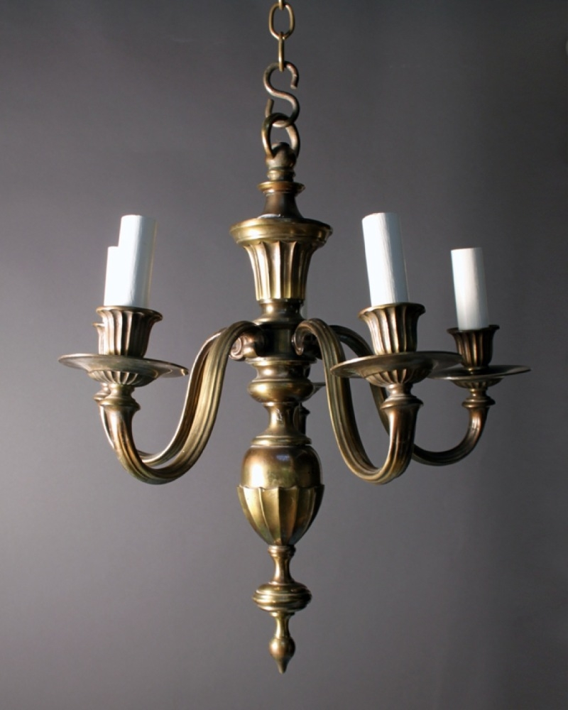 Featured Image of Old Brass Chandelier