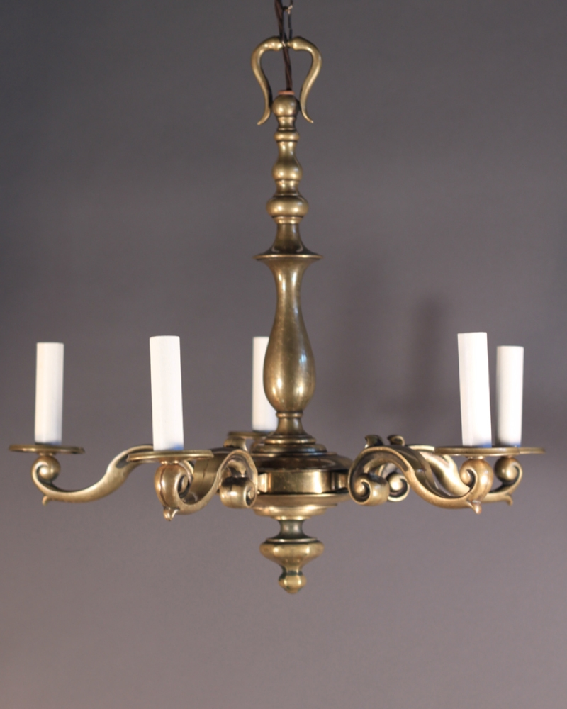 Brass Chandelier Vintage For Your Decorating Home Ideas With Brass Within Vintage Brass Chandeliers (Image 4 of 15)