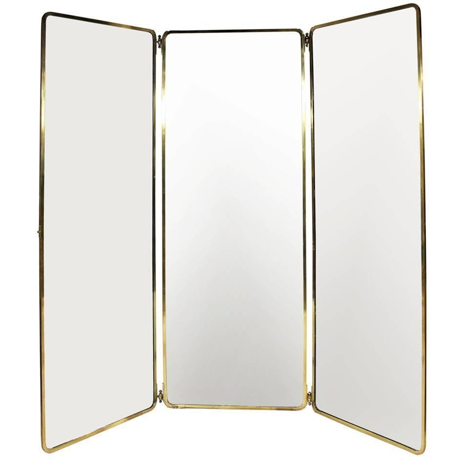 Brass Floor Length Mirror Floor Ideas Regarding Brass Mirrors For Sale (Image 3 of 15)