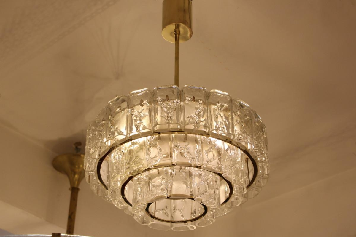 Brass Glass Chandelier From Doria 1960s For At Pamono In And