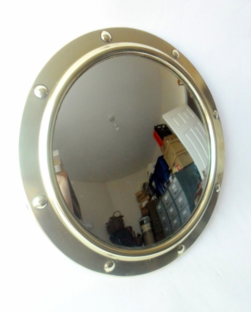 Brass Porthole Medicine Cabinet Creative Cabinets Decoration In Convex Porthole Mirror (Image 2 of 15)