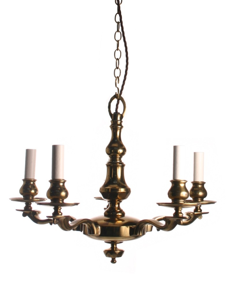 Brassedwardianchandelier Within Edwardian Chandelier (Image 2 of 15)