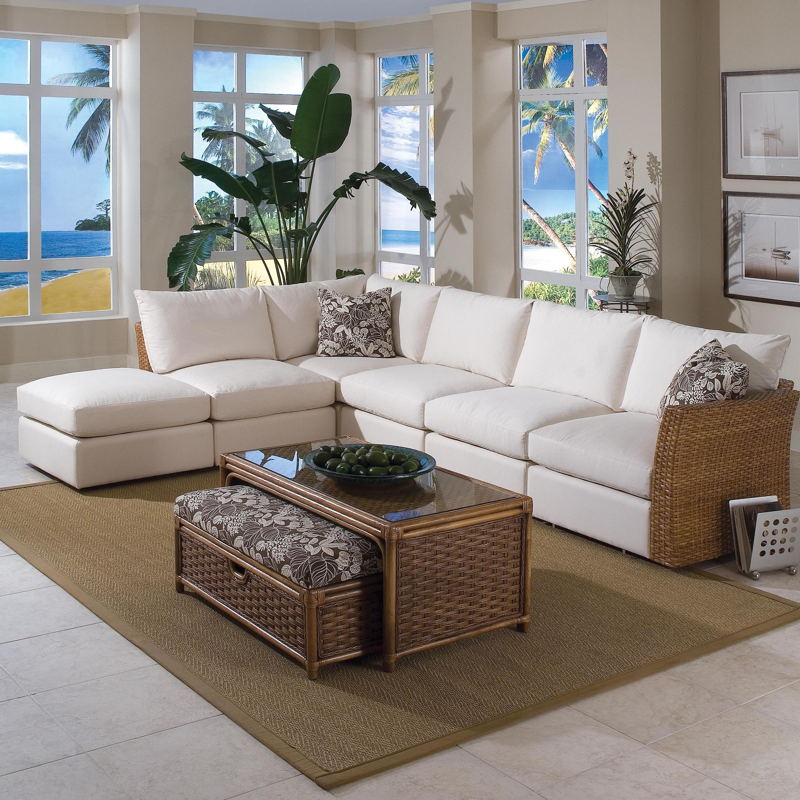 Braxton Culler Grand Water Point Tropical Sectional Sofa With Two Intended For Braxton Sectional Sofa (Image 2 of 15)