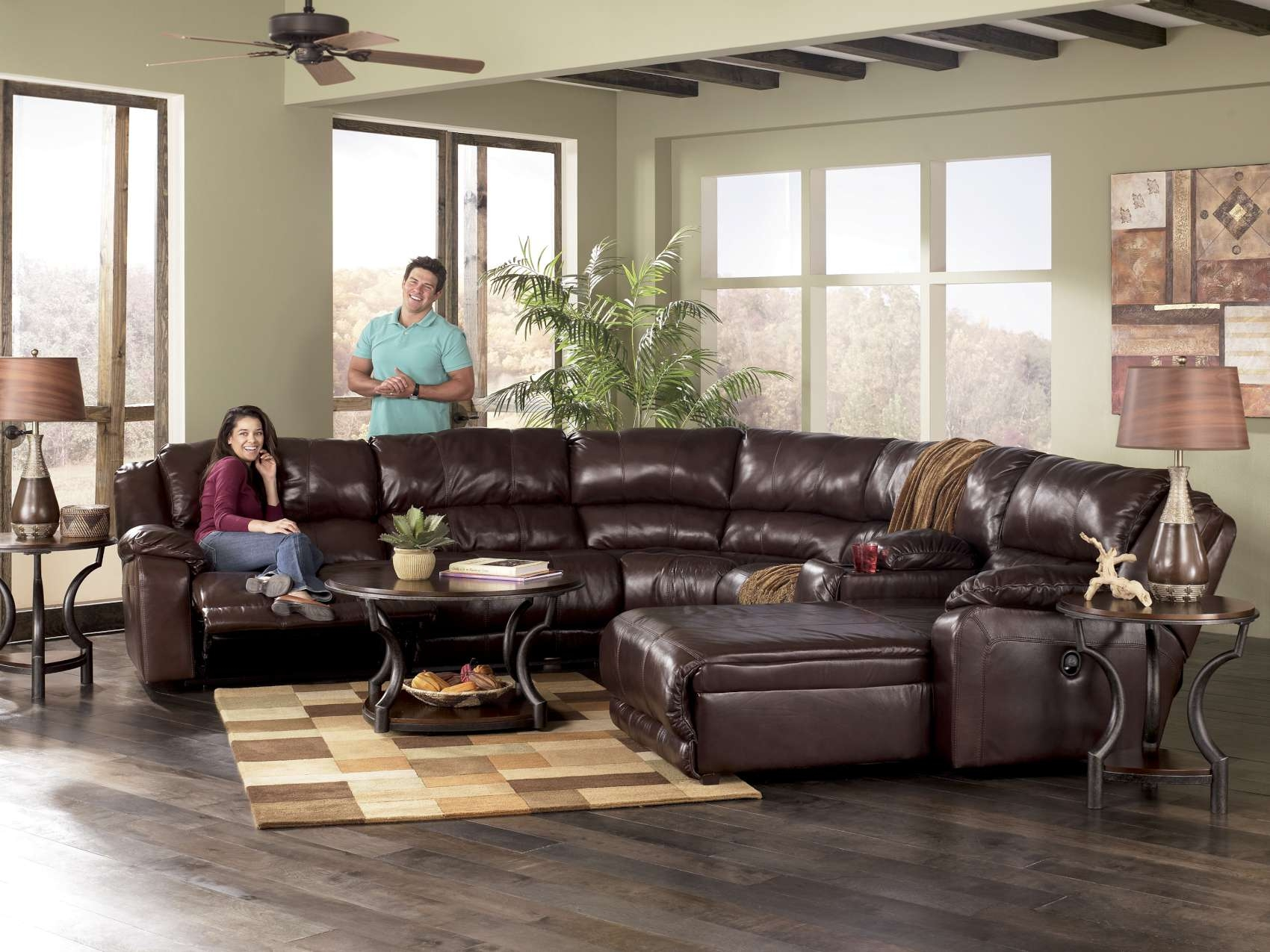 Braxton Java Reclining Sofa Collection97800 Throughout Braxton Sectional Sofa (Image 4 of 15)