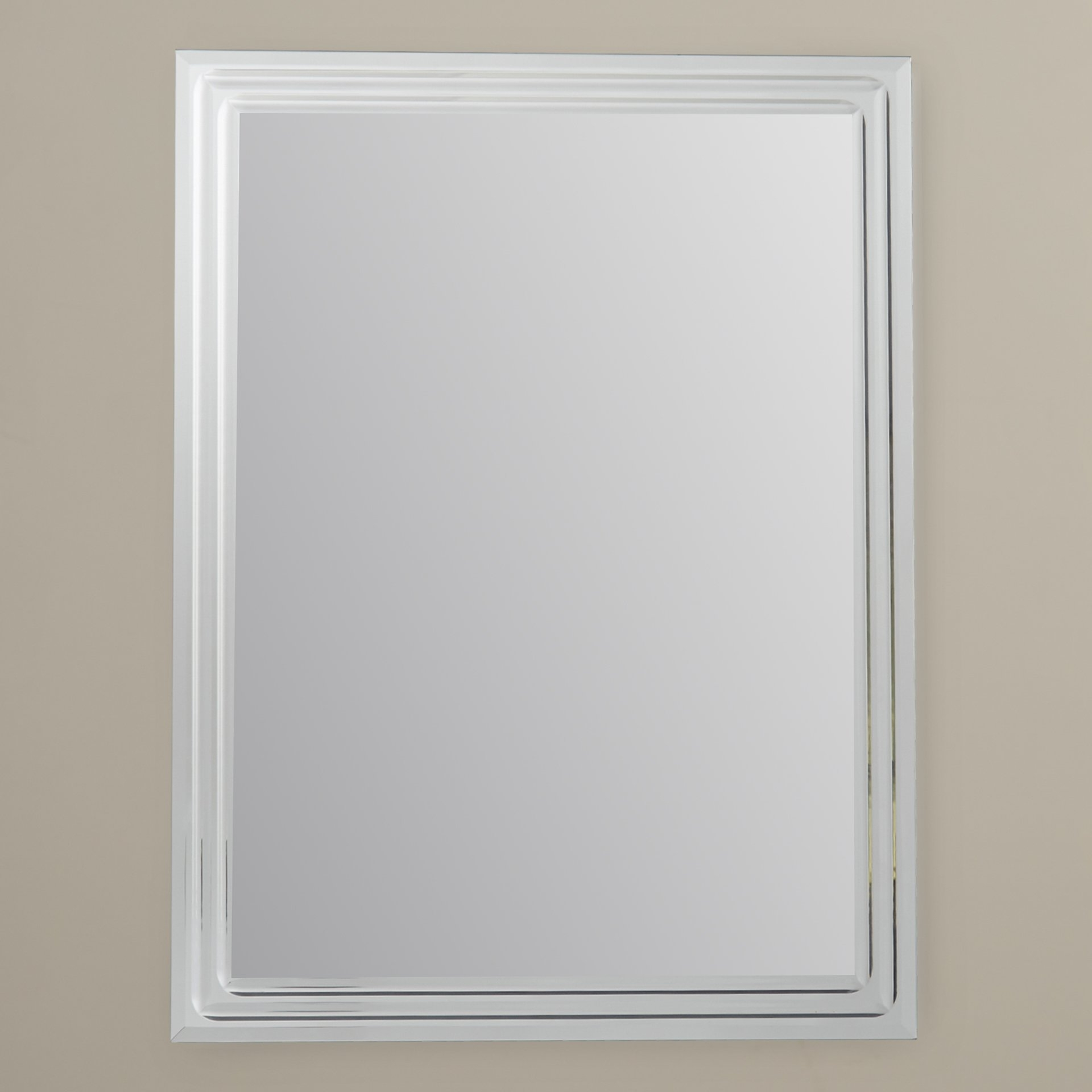 Brayden Studio Frameless Tri Bevel Wall Mirror Reviews Wayfair In Bevelled Wall Mirror (Image 4 of 15)