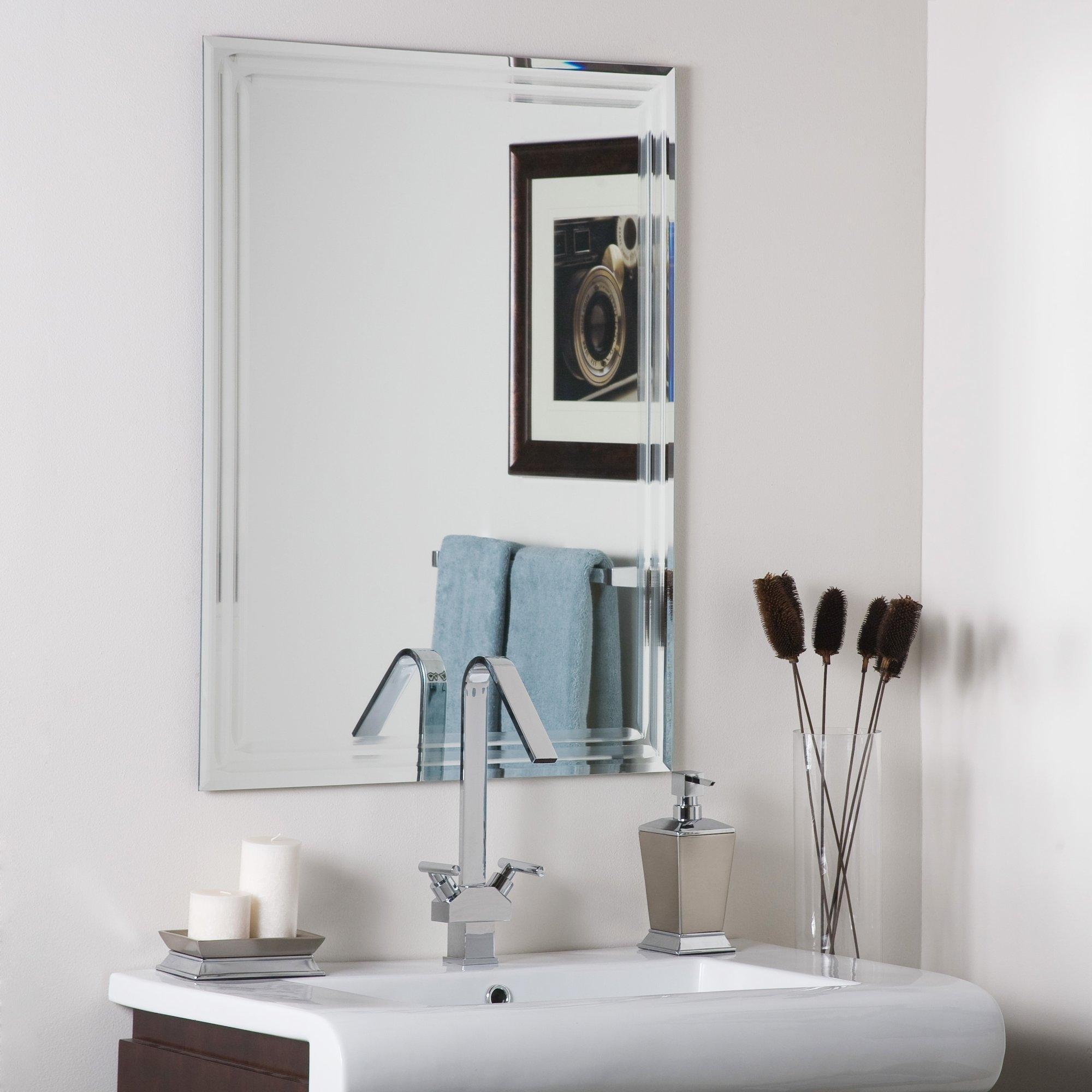 Brayden Studio Frameless Tri Bevel Wall Mirror Reviews Wayfair Inside Bevel Mirror (Image 5 of 15)