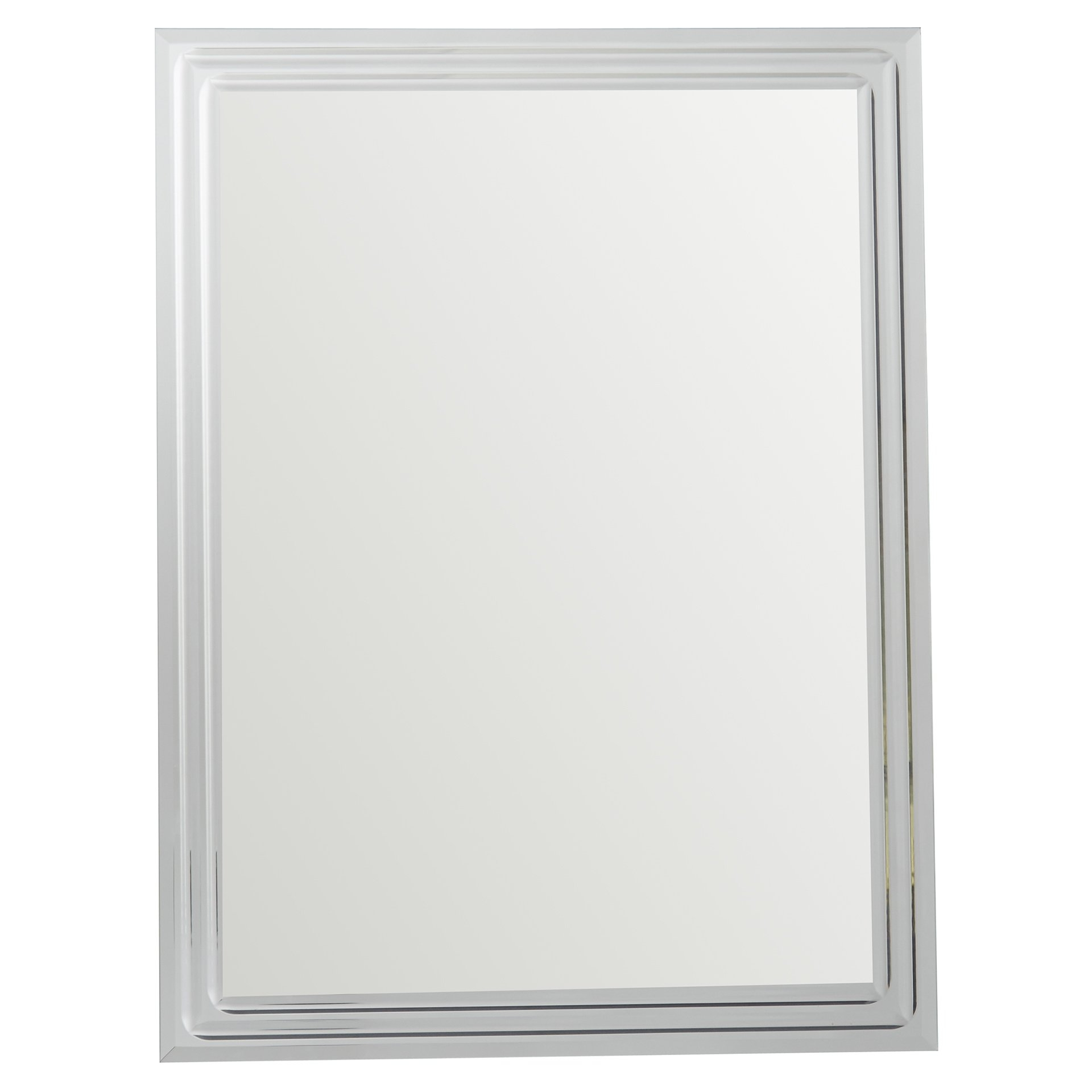 Brayden Studio Frameless Tri Bevel Wall Mirror Reviews Wayfair With Slim Wall Mirror (Image 2 of 15)