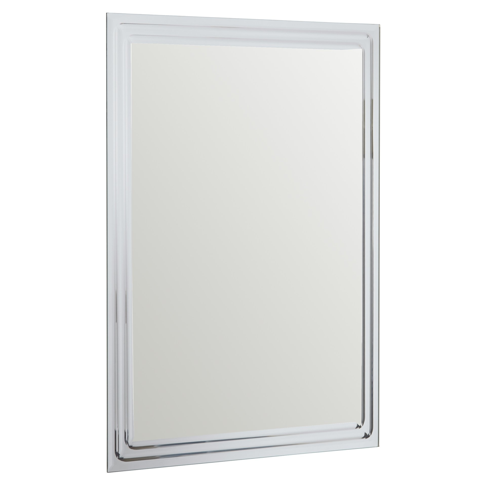 Brayden Studio Frameless Tri Bevel Wall Mirror Reviews Wayfair Within Bevelled Wall Mirror (Image 5 of 15)