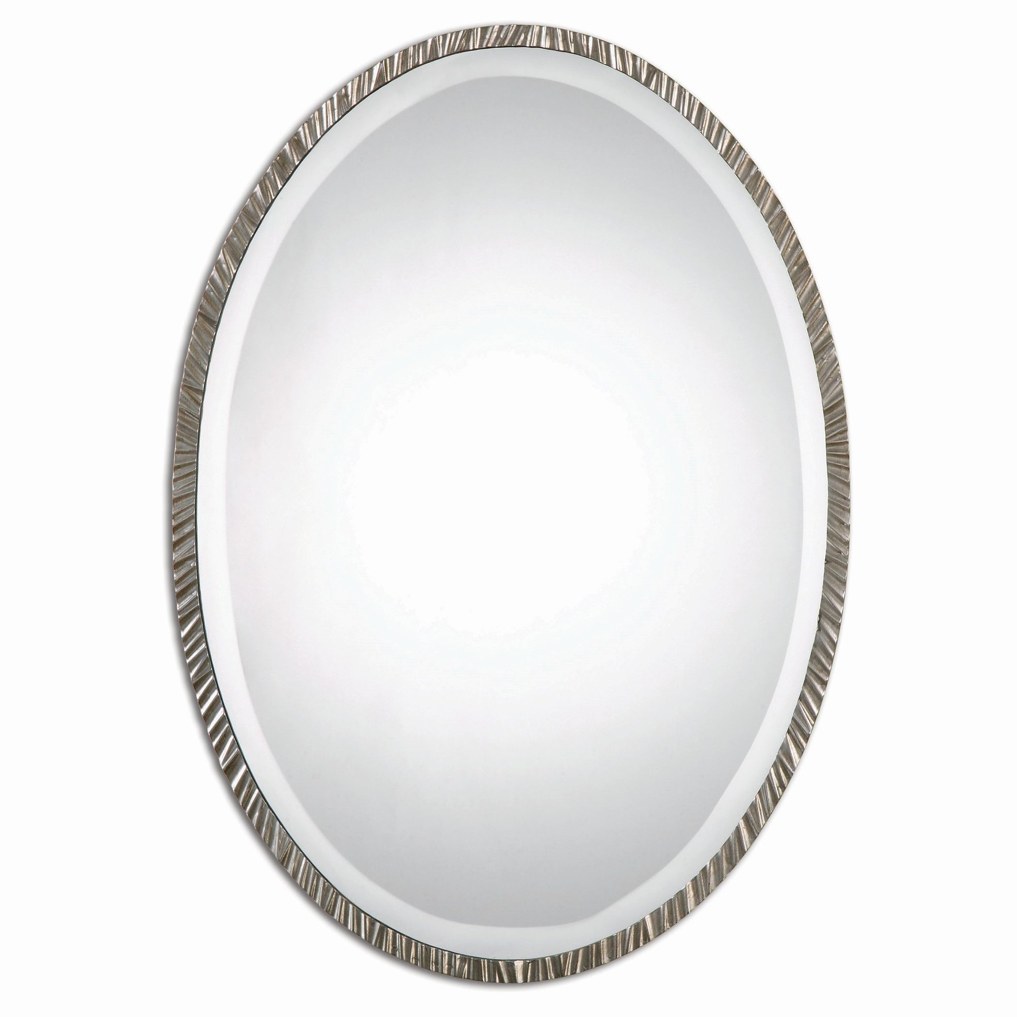 Featured Image of White Oval Wall Mirror