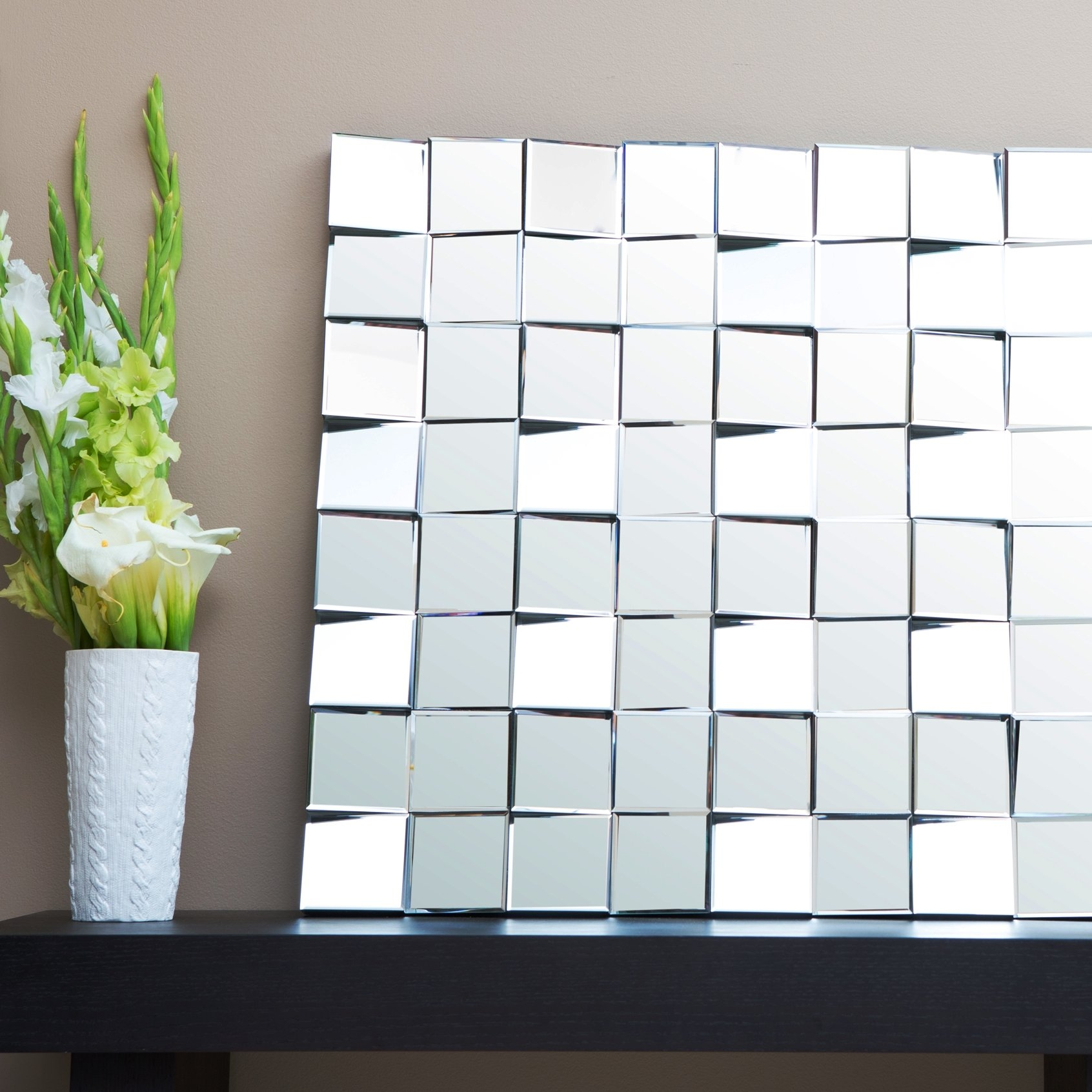 Brayden Studio Square Silver Wall Mirror Reviews Wayfair Within Square Wall Mirror (Image 5 of 15)