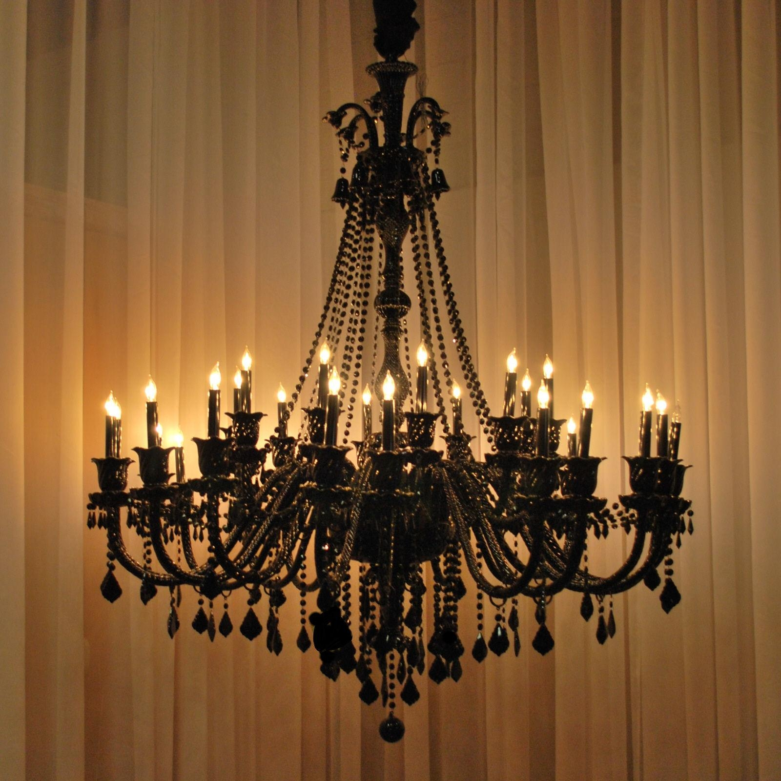 Breathtaking Brushed Bronze Antique Chandelier As Venetian Style Pertaining To Antique Black Chandelier (Image 7 of 15)
