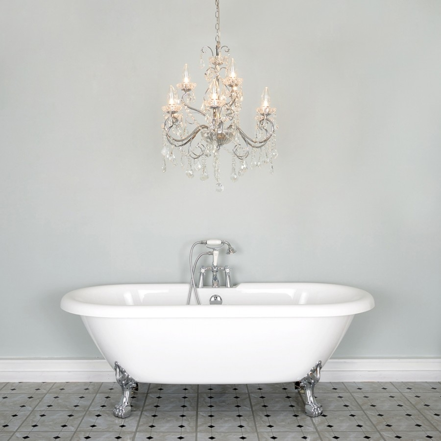 Brilliant Chandelier Bathroom Lighting Bee Home Decor In For Bathroom Chandeliers (Image 12 of 15)