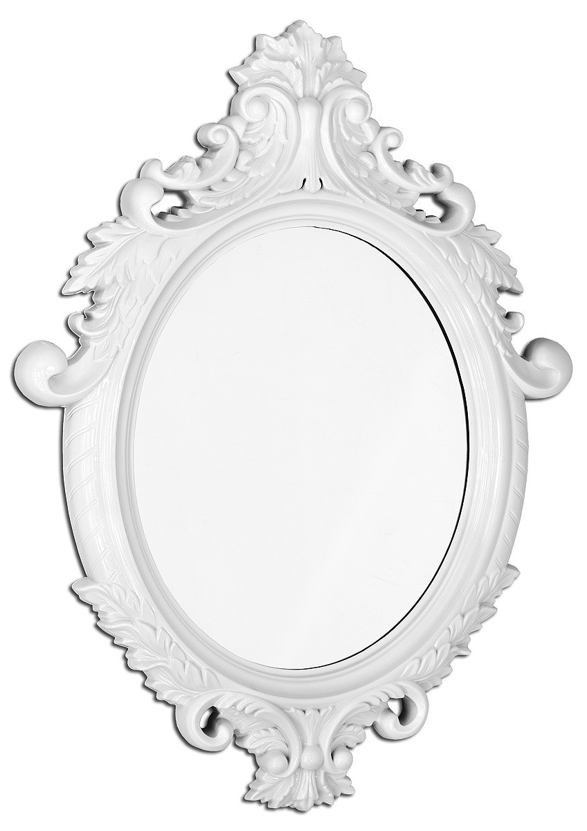 Brilliant Design White Wall Mirror Innovational Ideas White With Regard To White Baroque Wall Mirror (Image 4 of 15)