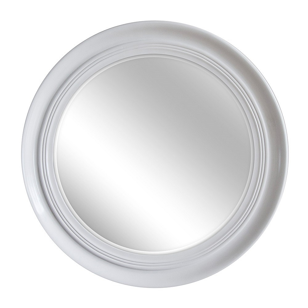 Briscoes Brooklyn Croydon Mirror White Round 796mm Throughout White Round Mirror (Image 3 of 15)