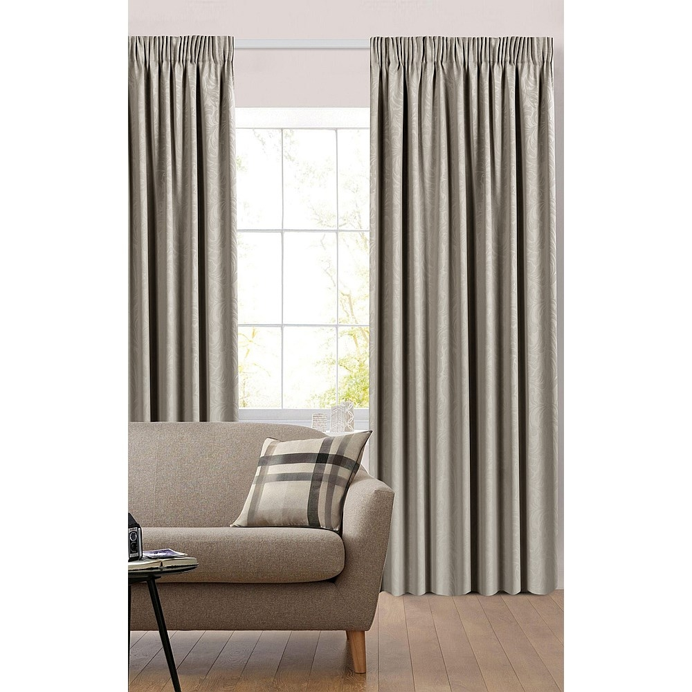 Briscoes Habitat Florentine Pencil Pleat Curtains Pair Intended For Pencil Pleat Curtains (Image 2 of 15)