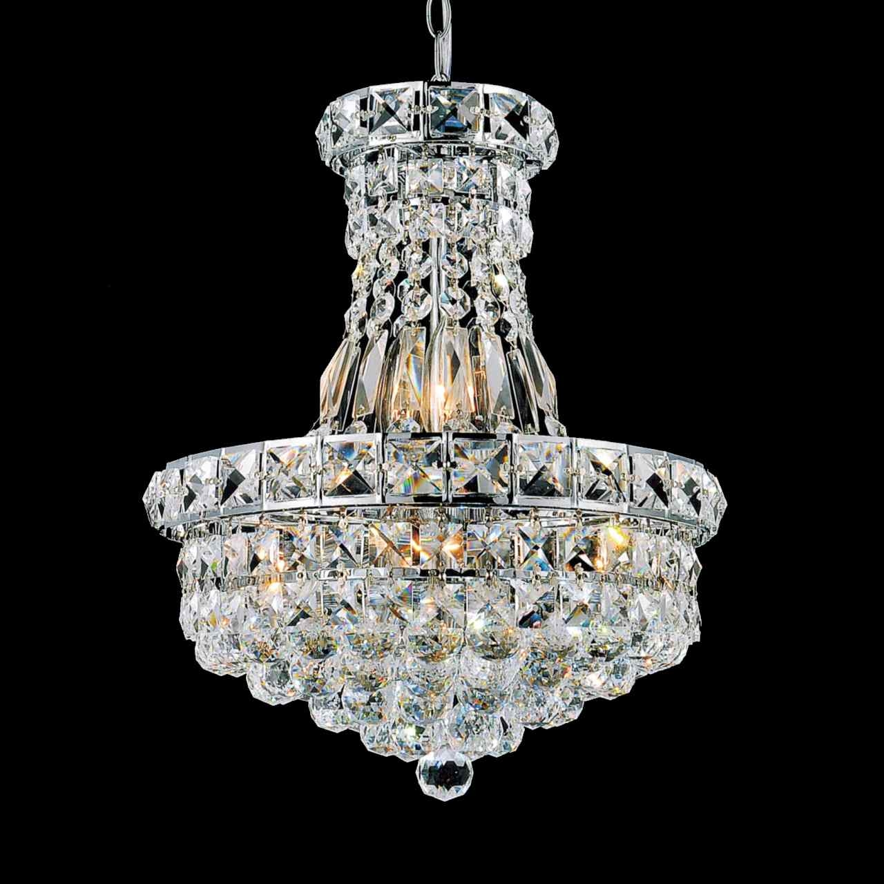 Brizzo Lighting Stores 12 Primo Transitional Crystal Small Round Inside Small Chrome Chandelier (Image 5 of 15)