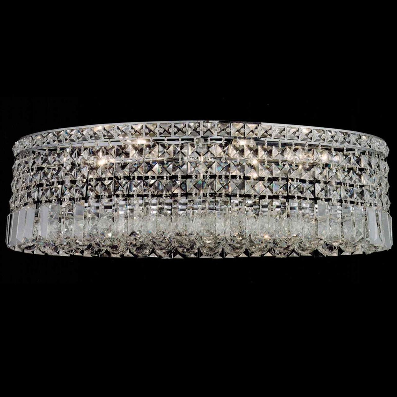 Brizzo Lighting Stores 16 Bossolo Transitional Crystal Round With Regard To Flush Chandelier (Image 3 of 15)