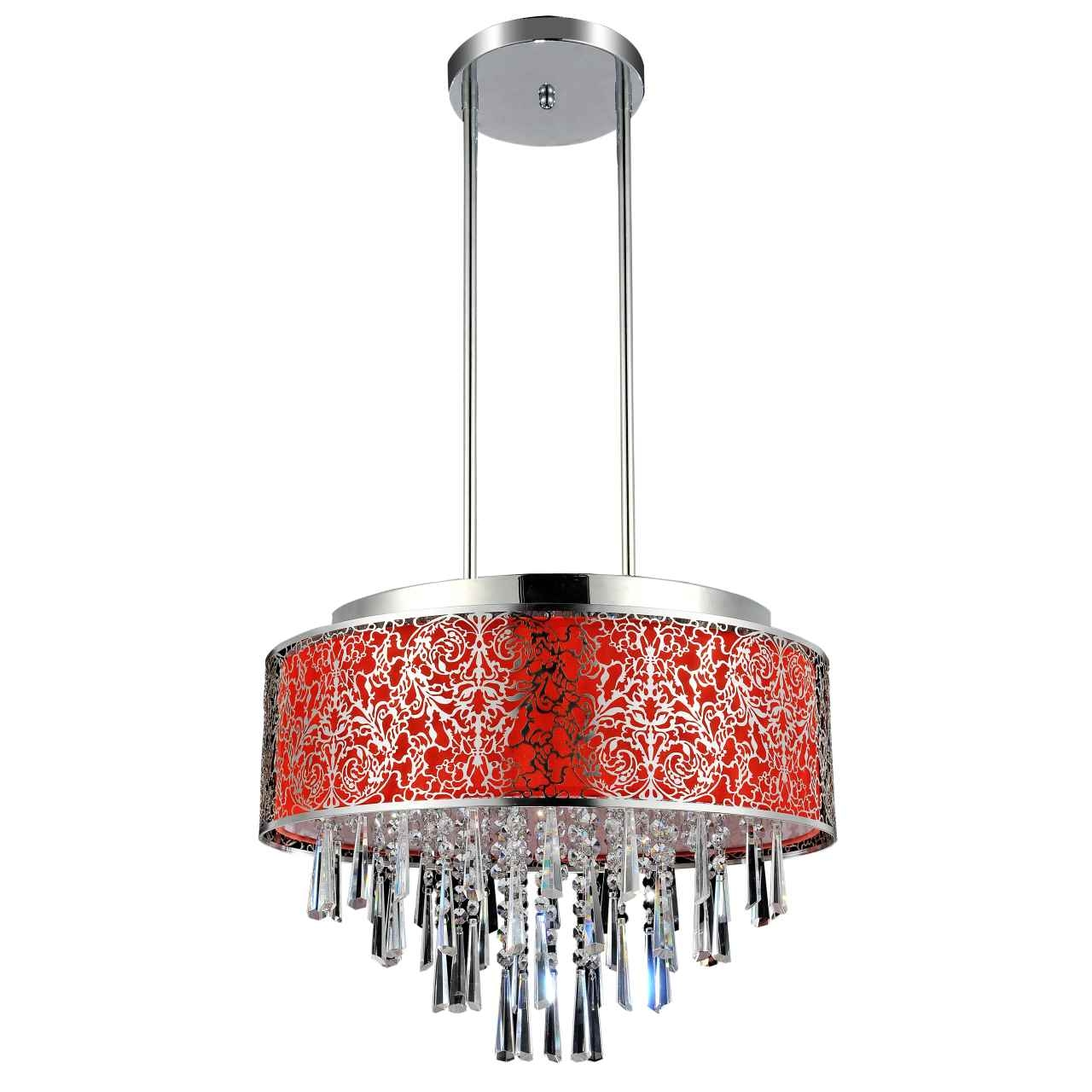 Brizzo Lighting Stores 20 Drago Modern Crystal Round Pendant For Modern Red Chandelier (Image 4 of 15)