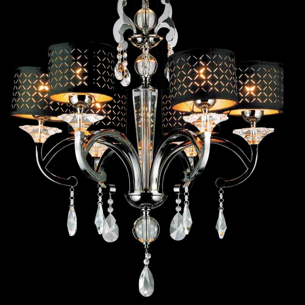 Brizzo Lighting Stores 29 Bello Nero Contemporary Crystal Round In Contemporary Black Chandelier (Image 3 of 15)