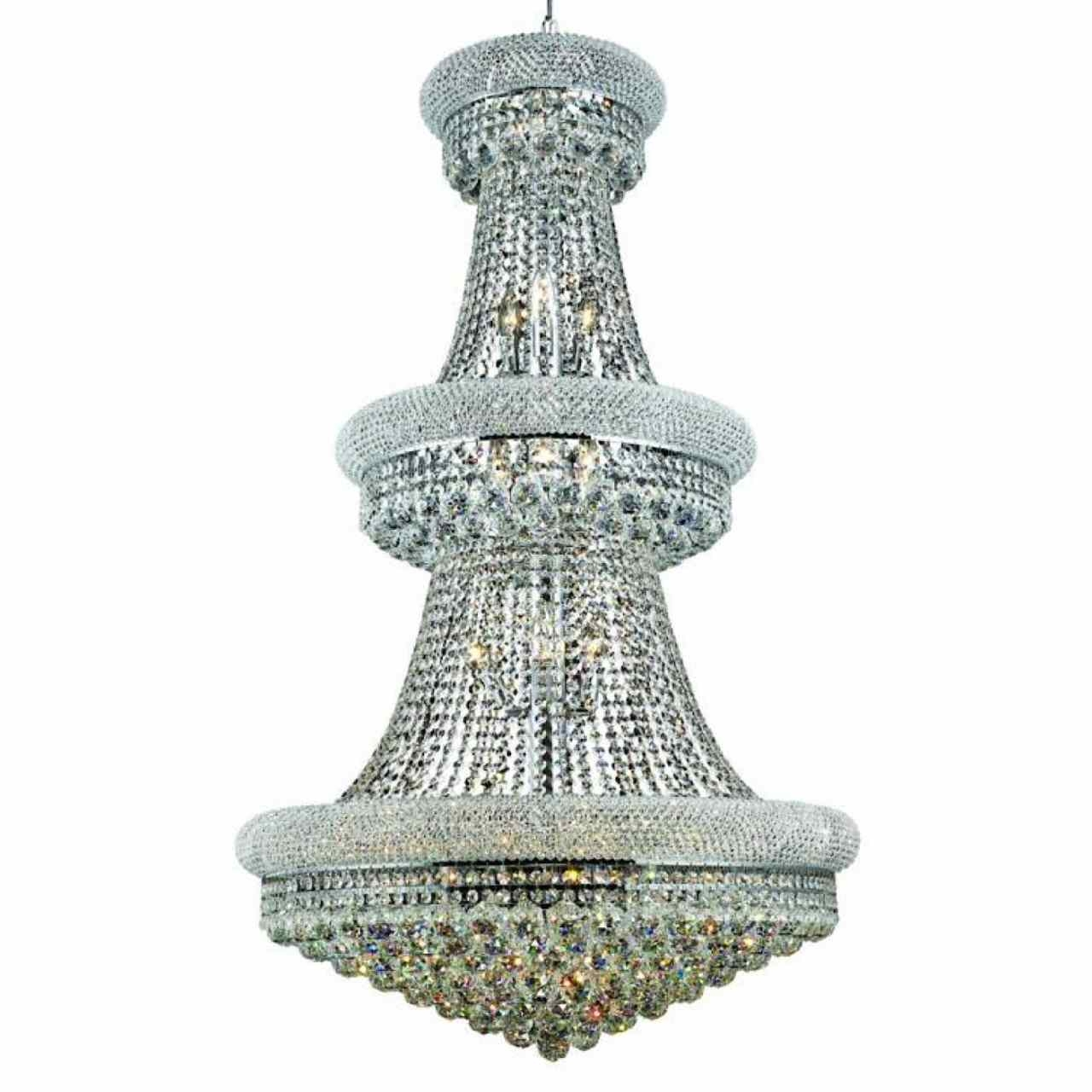 Brizzo Lighting Stores 50 Empire Crystal Large Foyer Round 3 Throughout 3 Tier Crystal Chandelier (View 6 of 15)