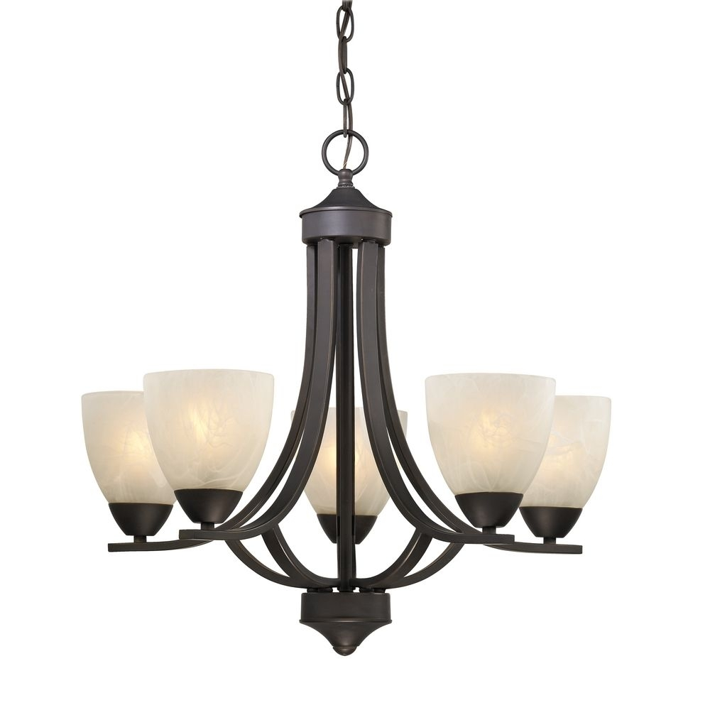 Bronze Chandelier With Alabaster Glass Shades 222 78 Within Bronze Modern Chandelier (Image 3 of 15)