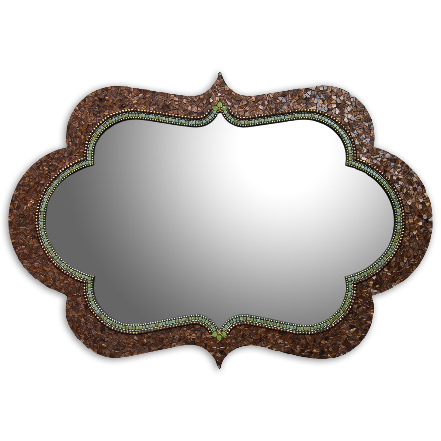 Bronze Cora Mirror Angie Heinrich Mosaic Mirror Artful Home For Bronze Mosaic Mirror (View 1 of 15)