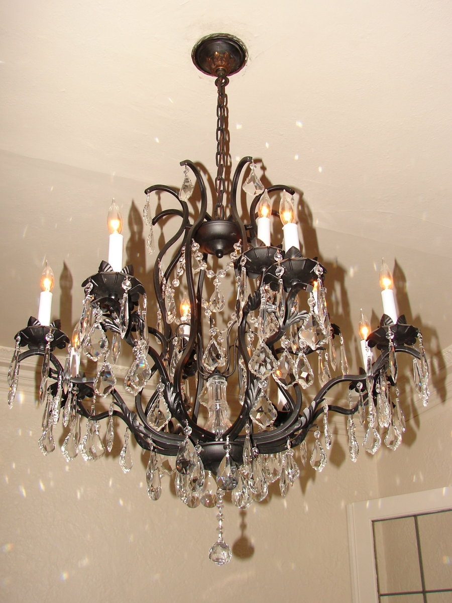 Bronze Crystal Chandelier Fantasystock On Deviantart With Bronze And Crystal Chandeliers (View 7 of 15)