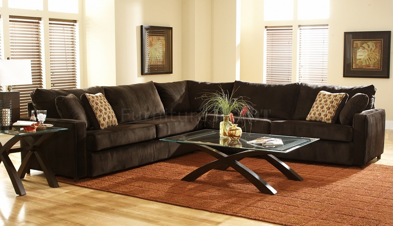 Brown Sectional Couch Good Looking Living Room Decoration Using Within Chocolate Brown Sectional Sofa (Image 6 of 15)