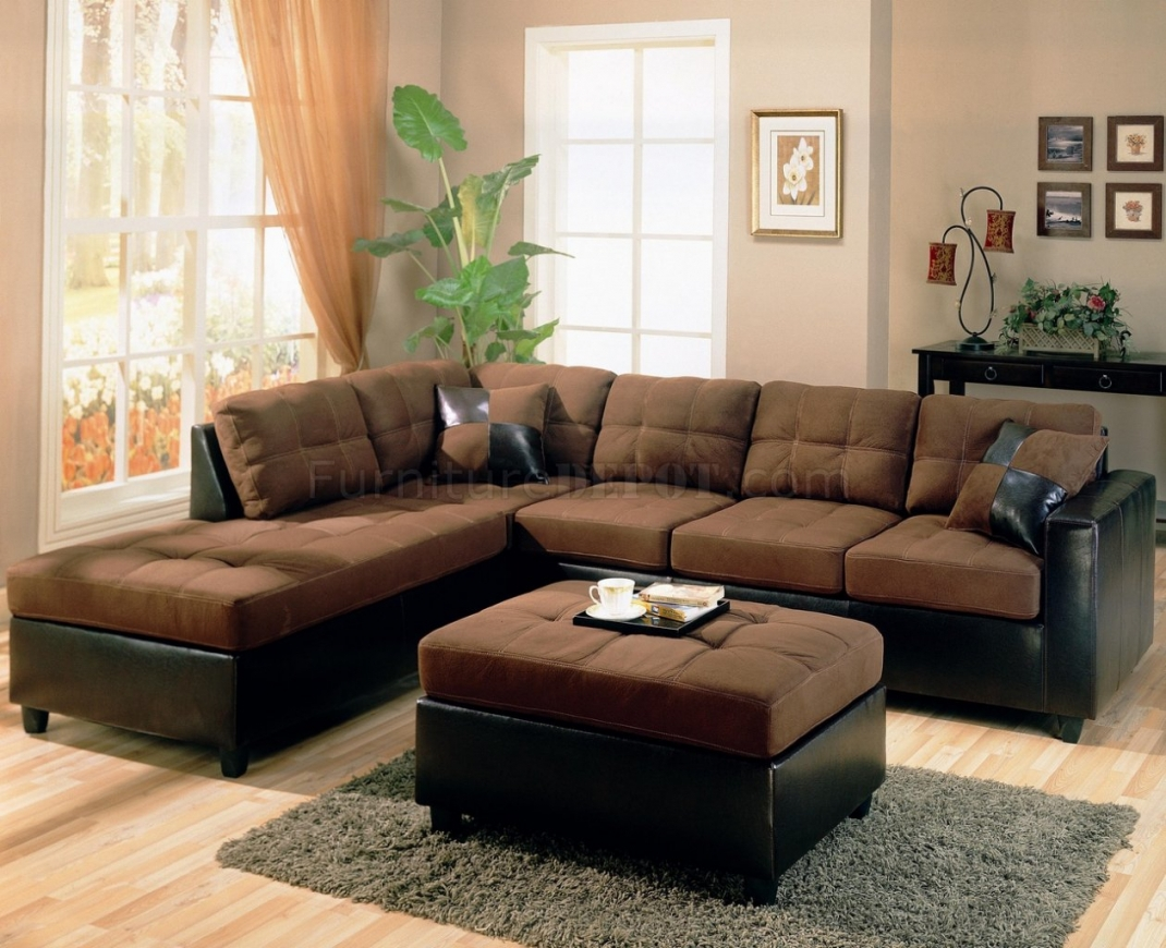 Brown Sectional Sofa In Chocolate Brown Sectional Sofa (Image 7 of 15)