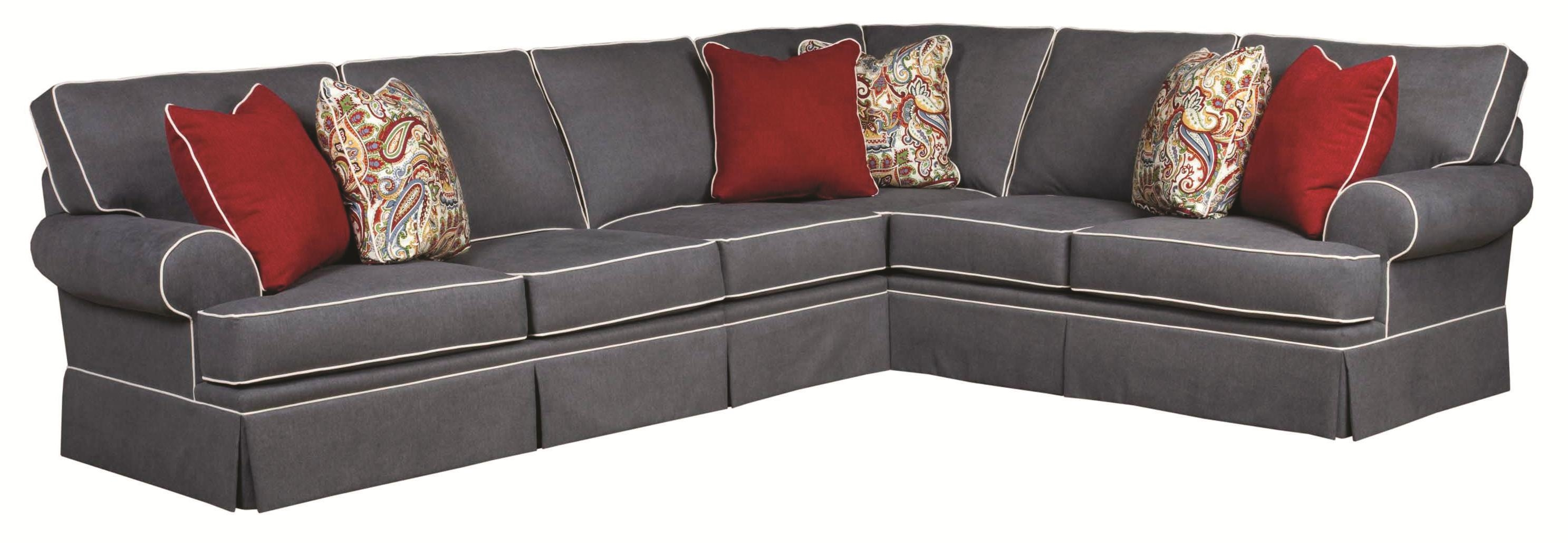 Broyhill Furniture Emily Traditional 3 Piece Sectional Sofa With Pertaining To Broyhill Sectional Sofas (Image 1 of 15)