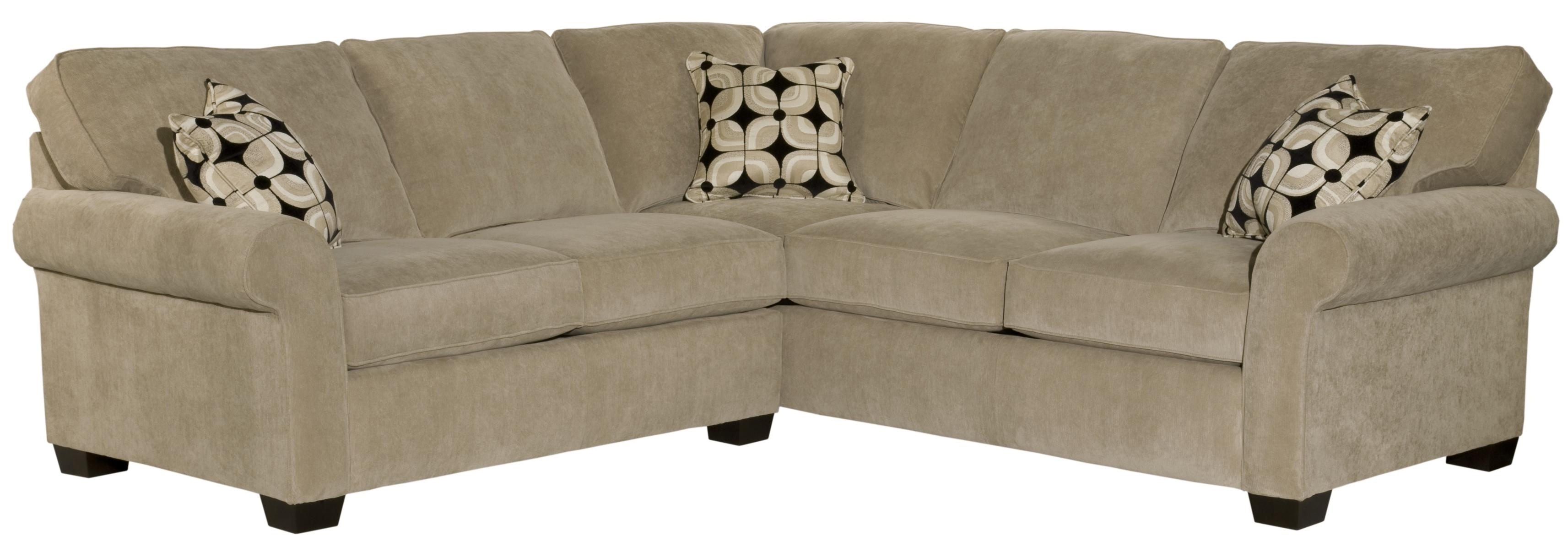 Broyhill Furniture Ethan Two Piece Sectional With Corner Sofa Regarding Broyhill Sectional Sofas (Image 2 of 15)