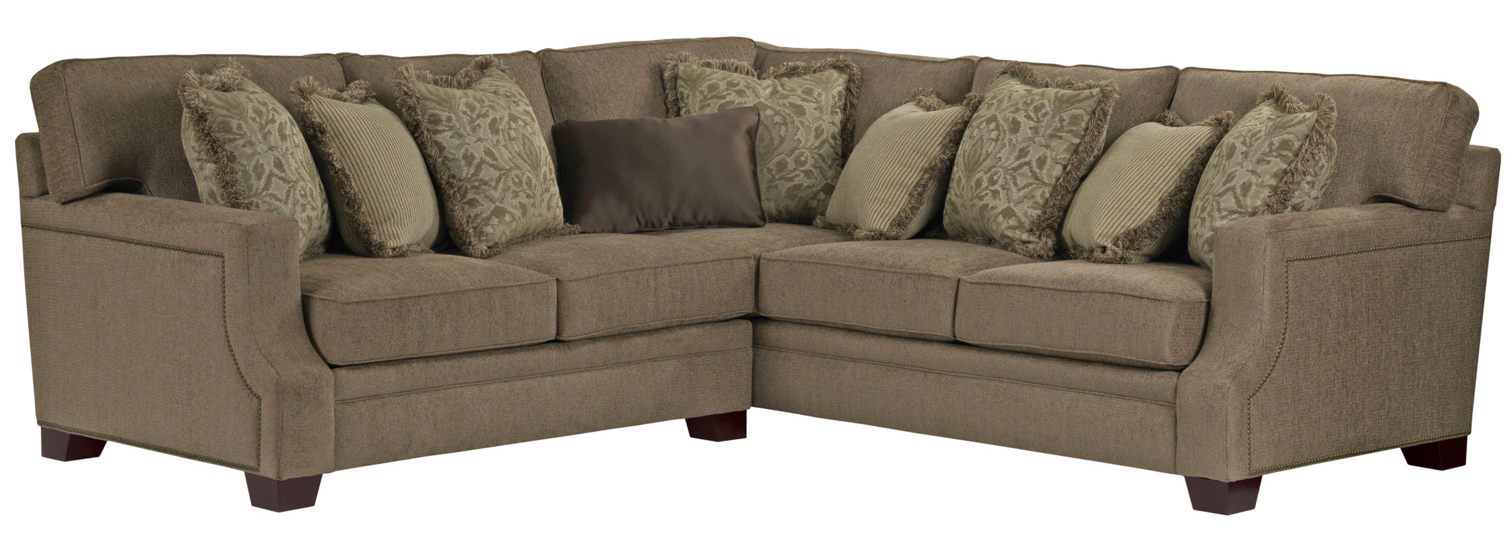 Broyhill Furniture Kayley 2 Piece Corner Sectional Ahfa Sofa Inside Broyhill Sectional Sofas (Image 3 of 15)