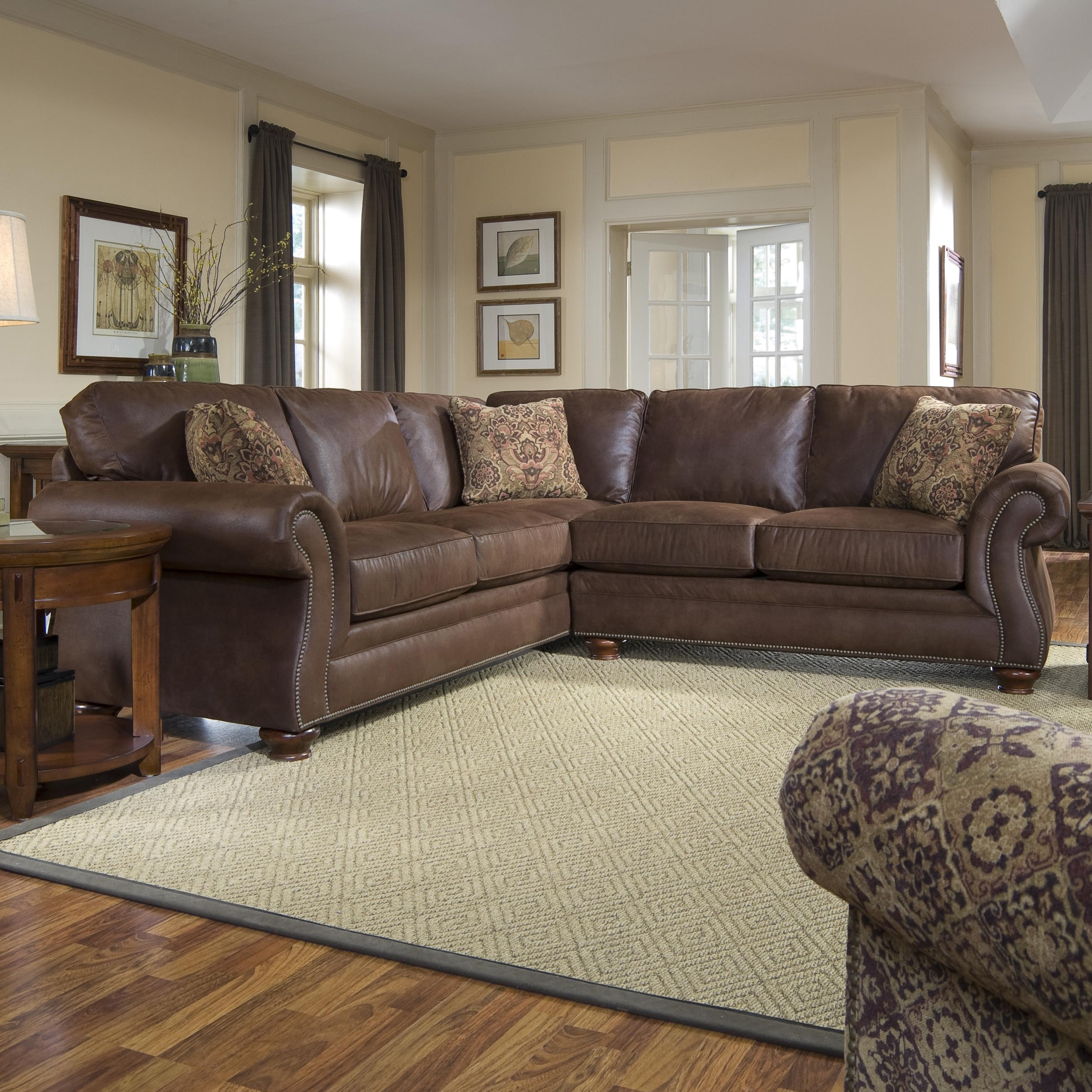 Broyhill Furniture Laramie 3 Piece Sectional Sofa Broyhill Of With Regard To Broyhill Sectional Sofas (Image 4 of 15)