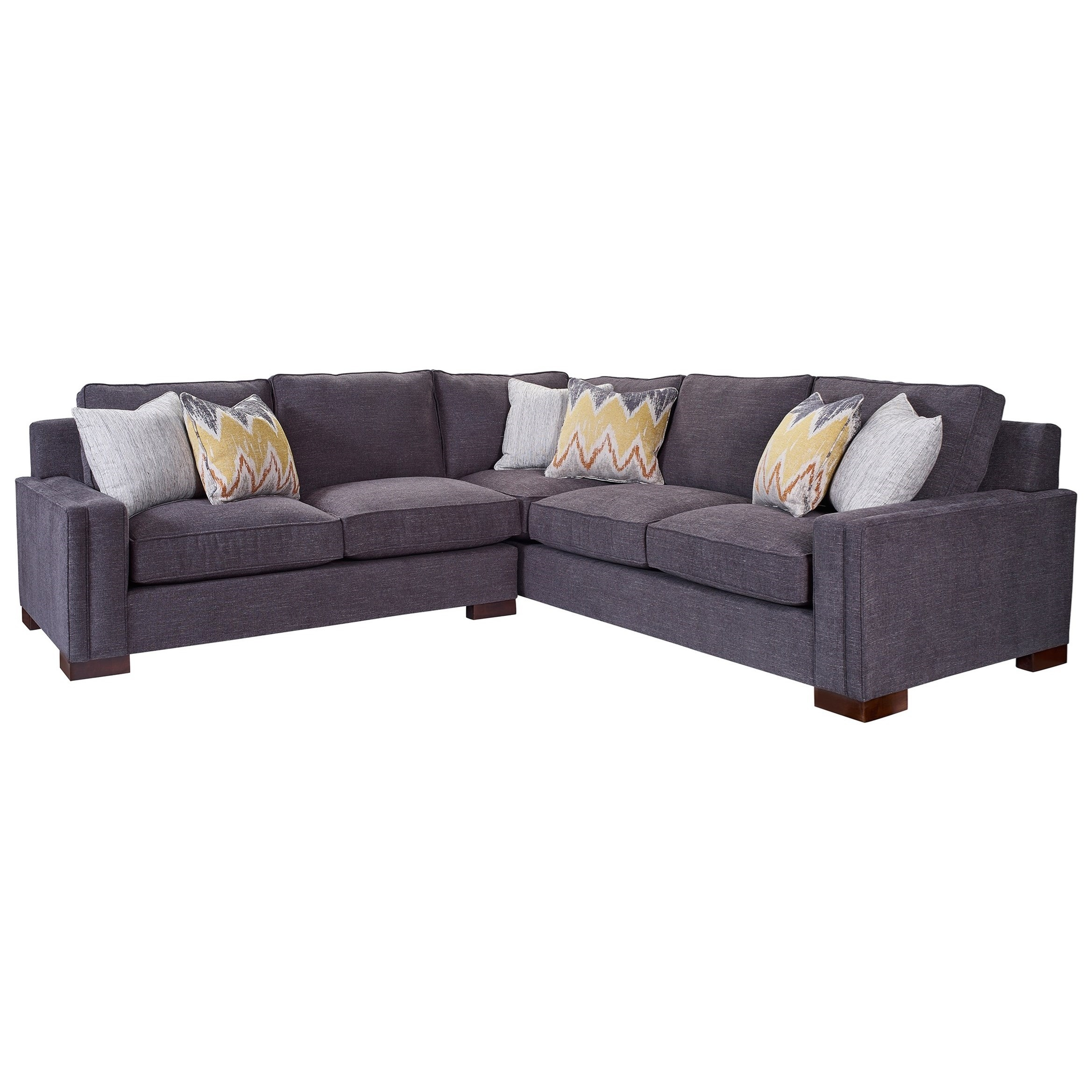 Broyhill Furniture Rocco 2 Piece Sectional With Corner Sofa Within Broyhill Sectional Sofas (Image 6 of 15)