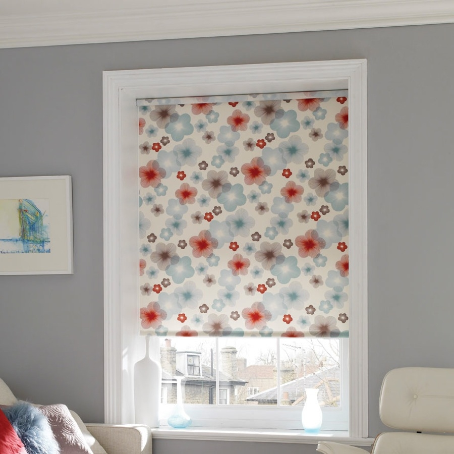 Bruce Blinds Nora Duckegg Roller Blinds Inside Pattern Roller Blinds (Image 3 of 15)