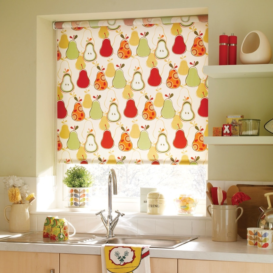 Bruce Blinds Roller Blinds Pears Red Red Blinds Pinterest With Regard To Pattern Blinds (View 4 of 15)
